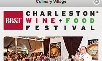 Charleston Wine and Food Festival mobile web App