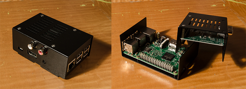 Raspberry Pi 3 with Pi-DAC+