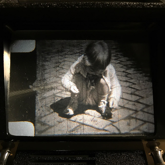 Individual 8mm film frame