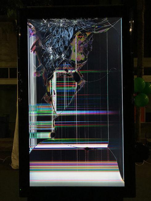 Smashed tv screen